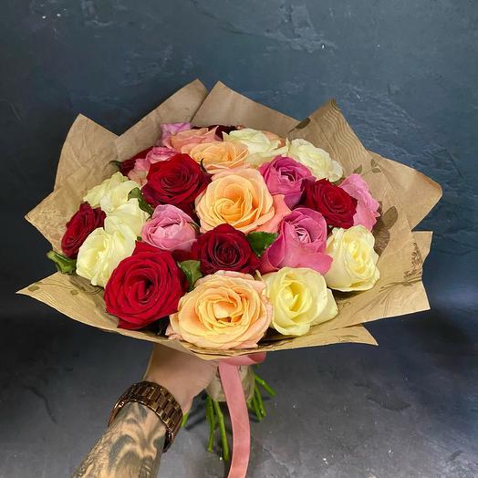 Роза микс 25 штук