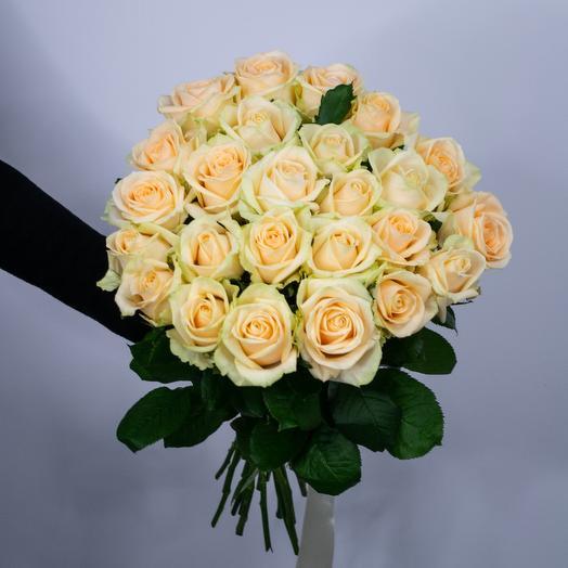 Букет из 25 роз Peach Avalanche
