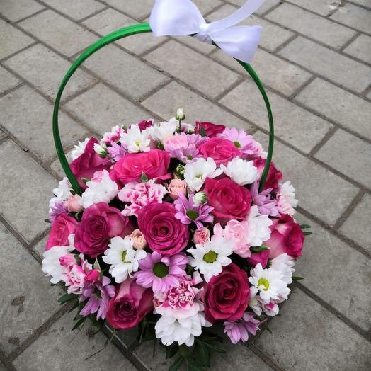 Корзина с цветами «Тайная мечта»