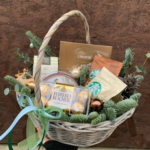 Подарочная корзина «Зимний шоколад»