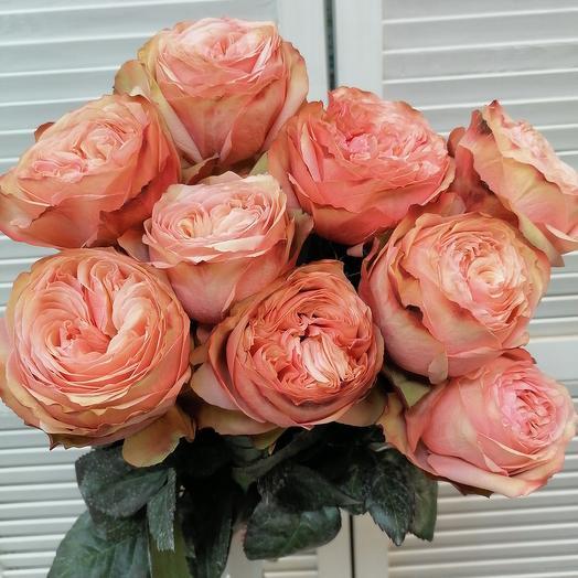 Пионовидная роза под ленту 🥰