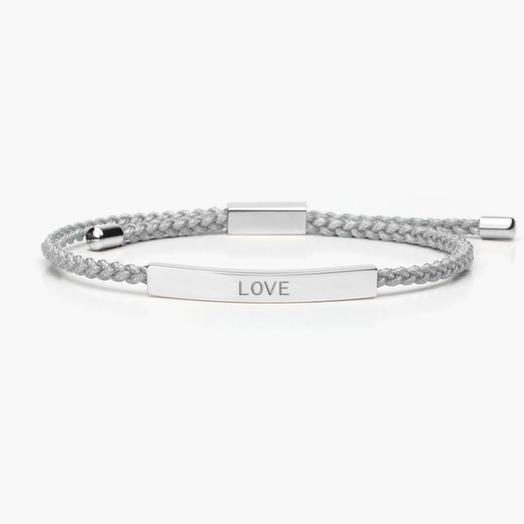 Женский браслет на верёвке с надписью LOVE