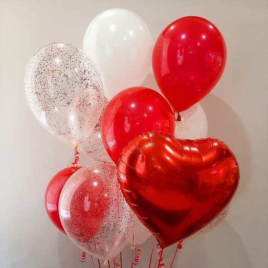 Сет «Люблю» красный