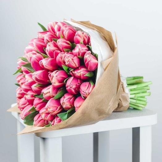 51 Розовый Пионовидный Тюльпан
