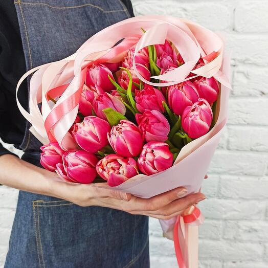 """Букет """"25 Тюльпанов"""" Пионовыдных"""