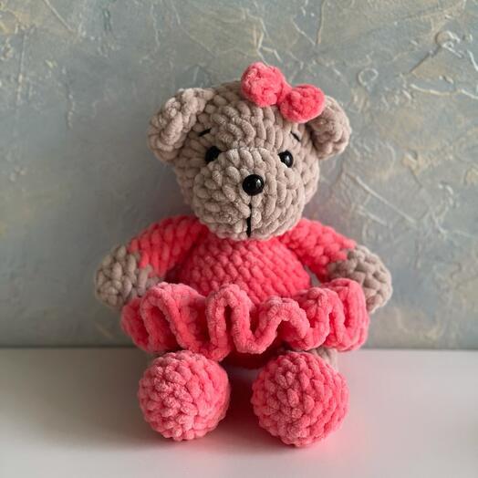 Мягкая игрушка плюшевый медвежонок