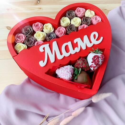 Шоколадный подарок для мамы 😍🍓🍫