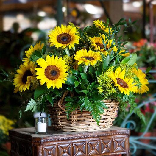 Июльское утро (Корзина 256): букеты цветов на заказ Flowwow