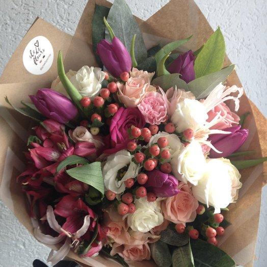 Малиновое утро: букеты цветов на заказ Flowwow