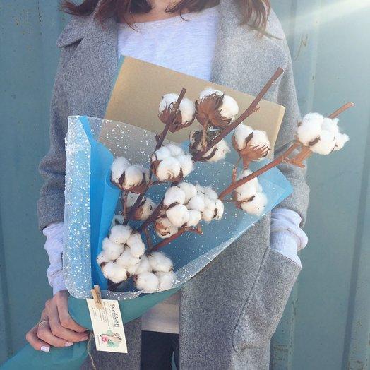 Авторский букет из хлопка: букеты цветов на заказ Flowwow