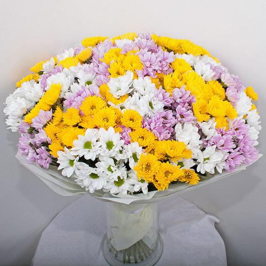 Букет из 45 хризантем: букеты цветов на заказ Flowwow