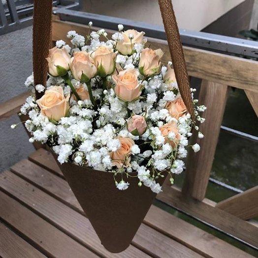 Ванильное суфле: букеты цветов на заказ Flowwow