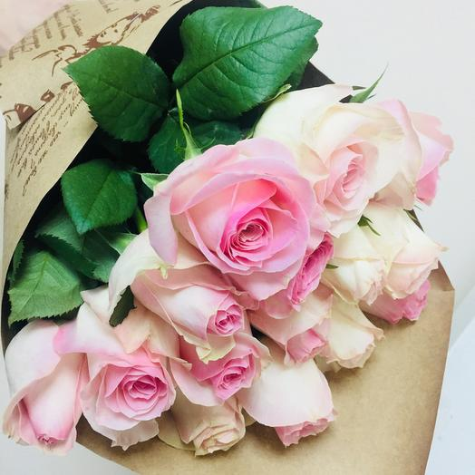 e99ad6020bb99 Send Bouquet of 15 pink kenyan rose to Samara for 1100 RUB ...