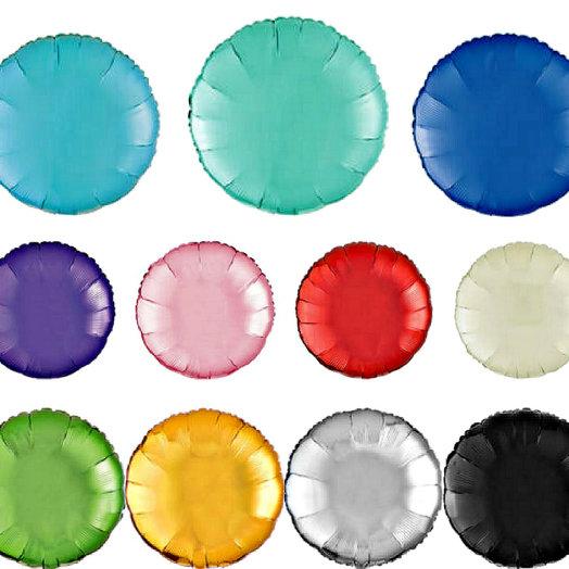 Фольгированные круги 45 см, 10 шт разноцветные, 1950Р