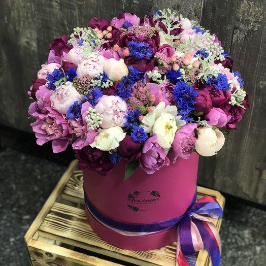 """Букет в шляпной коробке """"Николь"""": букеты цветов на заказ Flowwow"""