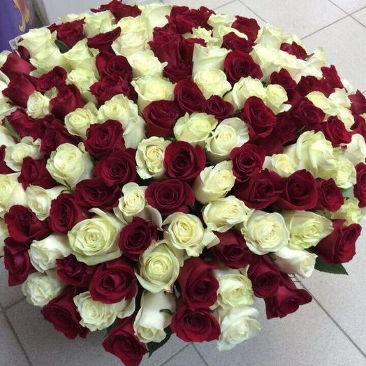 75 роз: букеты цветов на заказ Flowwow
