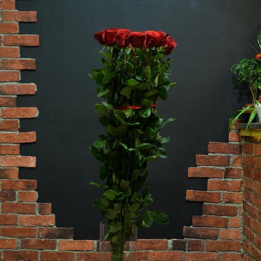 Роза 150 см 15 штук (Эквадор): букеты цветов на заказ Flowwow