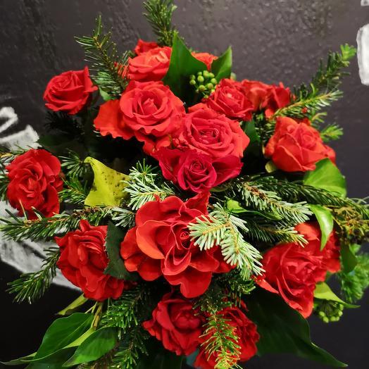 Цвет настроения-Красный: букеты цветов на заказ Flowwow