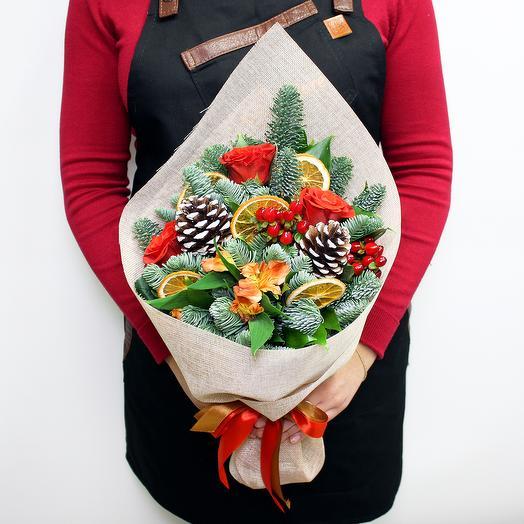 """""""Новогодняя открытка"""": букеты цветов на заказ Flowwow"""