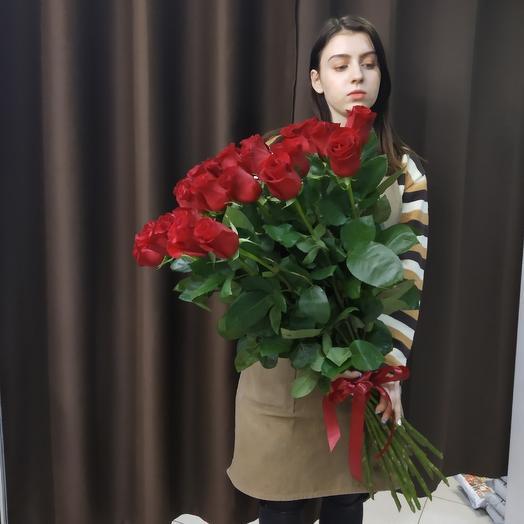 23 розы 80 см Премимум класса: букеты цветов на заказ Flowwow