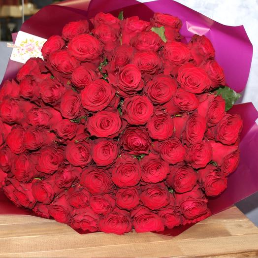 "Букет роз Эквадор 51 шт ""Яркие краски"""