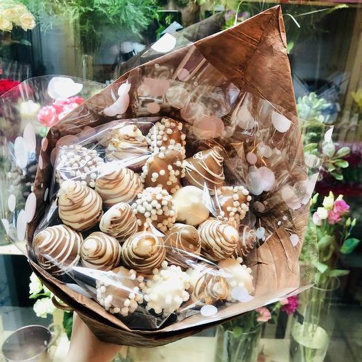 «Клубничное мокко»: букеты цветов на заказ Flowwow