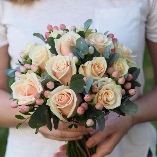 Свадебный букет 001: букеты цветов на заказ Flowwow