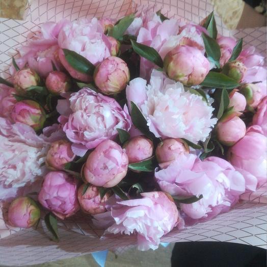 Элитные пионы: букеты цветов на заказ Flowwow