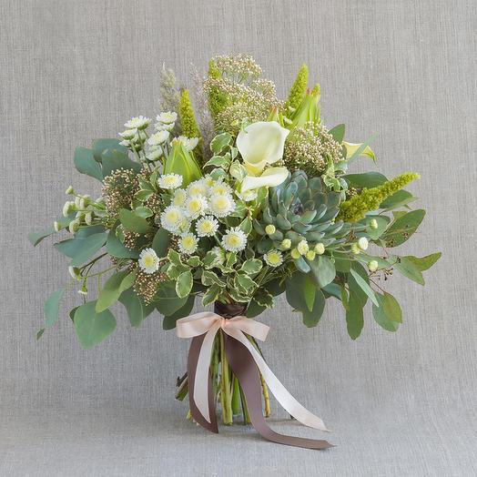 """Средний букет """"Малахит"""": букеты цветов на заказ Flowwow"""