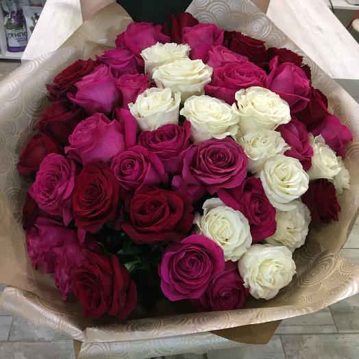 Роза 47 роскошных цветов по выгодной цене
