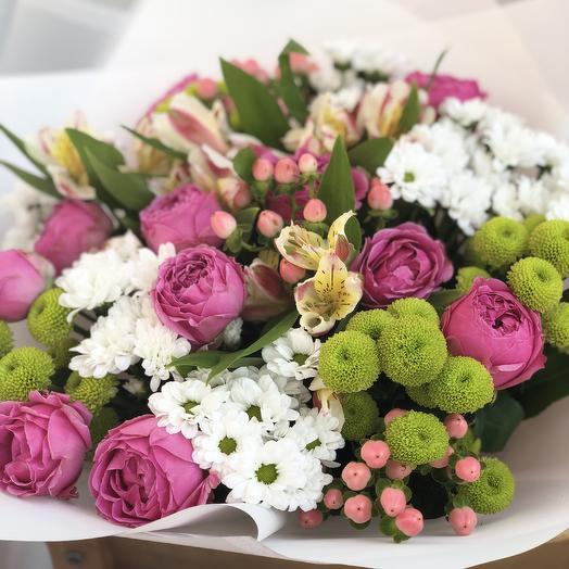 Букет «пионовидная нежность»: букеты цветов на заказ Flowwow