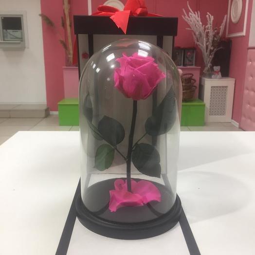 Роза в колбе розовая: букеты цветов на заказ Flowwow