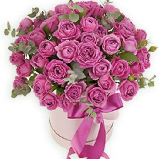 51 Роза пион в шляпной коробке: букеты цветов на заказ Flowwow