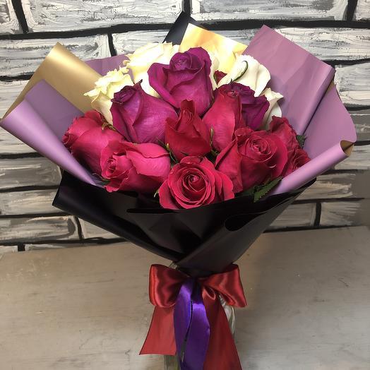 Дерзкий букет из 21 розы: букеты цветов на заказ Flowwow