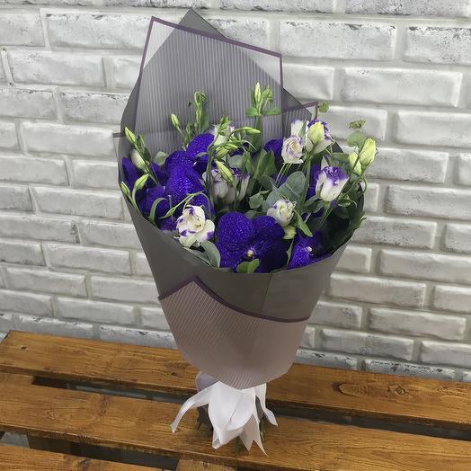 Букет из эустом и орхидеи: букеты цветов на заказ Flowwow