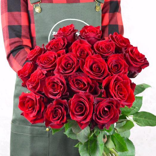 Роза красная 23шт