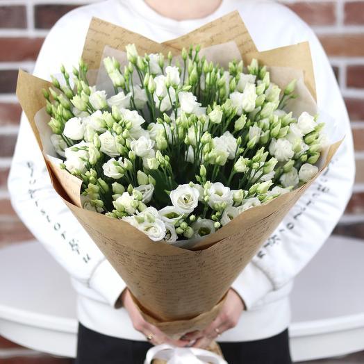 Букет из 25 белых эустом. N703: букеты цветов на заказ Flowwow