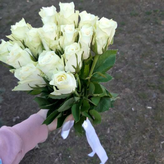 "Букет ""Белые розы"": букеты цветов на заказ Flowwow"