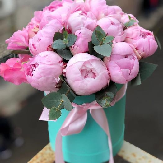 Коробка из 15 пионов: букеты цветов на заказ Flowwow