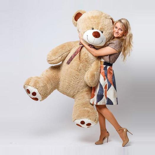 Большой Медведь Тони 180 см (кофейный)