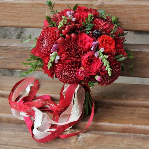 Букет невесты Luxury Flowers Бордо