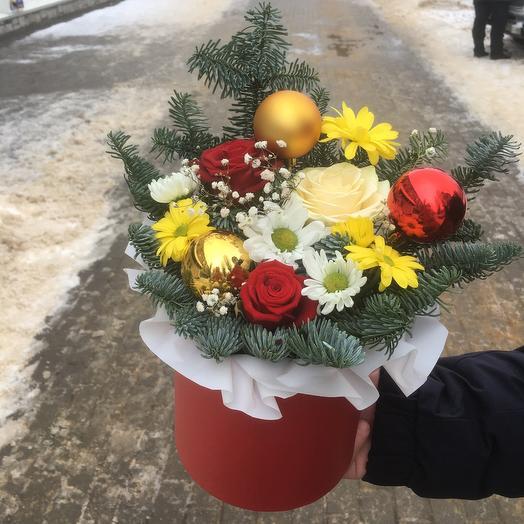 Цветы в коробке «Зимняя мелодия»