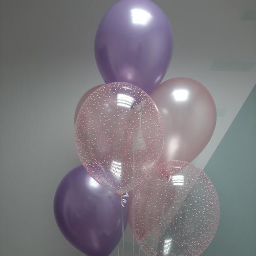 Фонтан из шариков , нежно розовый