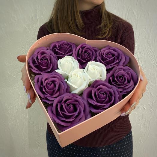 Черничная ночь. Soap roses box