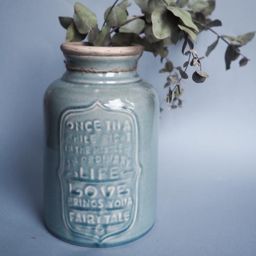 Керамическая ваза с эффектов кракле