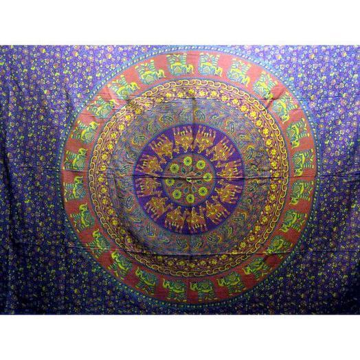 Индийское расписное полотно 100% хлопок  1,4х2м