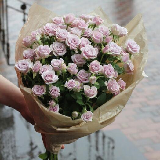 Букет 9 лавандовых роз