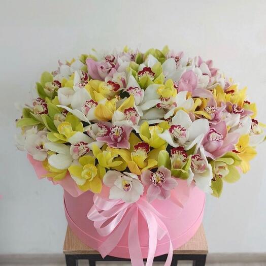 Цветы в коробке « Радость »