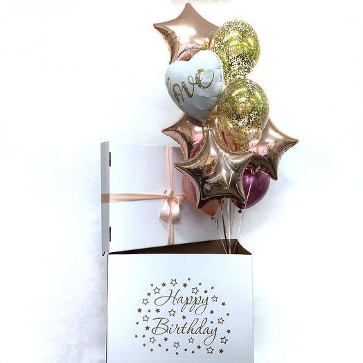 """Коробка-сюрприз с шарами """"Love"""""""