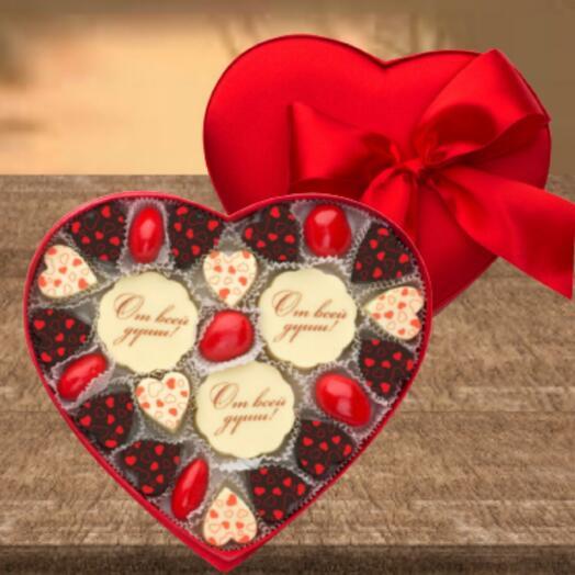 Набор конфет сердце